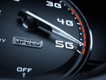 Speedometer 5G evolution Stock Photos