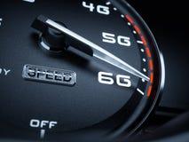 Speedometer 6G evolution Royalty Free Stock Photos