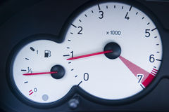 Speedometer and gas gauge Stock Photography