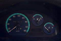 Speedometer gas and temperature Royalty Free Stock Images