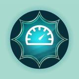 Speedometer gauge icon magical glassy sunburst blue button sky blue background. Speedometer gauge icon isolated on magical glassy sunburst blue button sky blue royalty free illustration