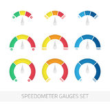Speedometer gauges set. Stock Photography