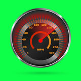 Speedometer  on green background Stock Image