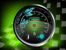 The speedometer on a green color background Royalty Free Stock Image