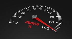 Speedometer - growth level Royalty Free Stock Photos
