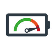 Speedometer Icon and Battery Stock Photo