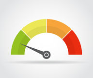 Speedometer icon. Colorful infographic gauge element with shadow Stock Photography