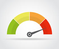 Speedometer icon. Colorful infographic gauge element with shadow Stock Photo