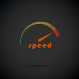 Speedometer icon. Logo company. Internet speed indicator. Vector illustration Stock Photography
