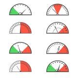 Speedometer icon set Royalty Free Stock Photo