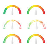 Speedometer icon set Royalty Free Stock Photography