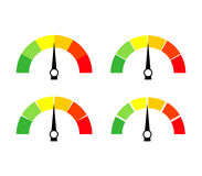 Speedometer icon or sign with arrow. Collection of colorful Infographic gauge element. Royalty Free Stock Photo