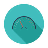Speedometer icon. Speedometer. Single flat color icon. Vector illustration Royalty Free Stock Photography