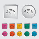 Speedometer icon. Vector illustration EPS Stock Images