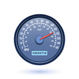 Speedometer icon  on white background Stock Images