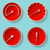 Speedometer icons Royalty Free Stock Images
