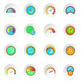 Speedometer icons set Stock Images