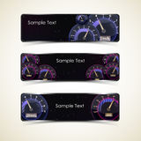Speedometer interface banners. Stock Photography