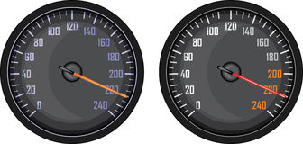 Speedometer isolated on the white Royalty Free Stock Images