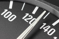Speedometer at 130 km/h Stock Photography