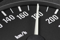 Speedometer at 180 km/h Stock Images