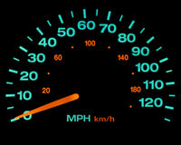Speedometer lights Royalty Free Stock Photos