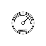 Speedometer line icon, navigation and Tachometer Stock Photography