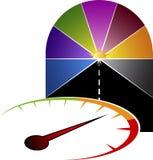 Speedometer logo Royalty Free Stock Images