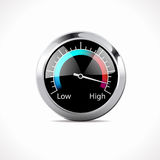 Speedometer - Low - High Royalty Free Stock Photo