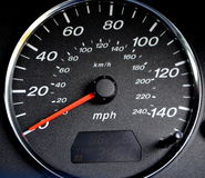 Speedometer. Mazda 6 2.0 petrol Estate speedometer Royalty Free Stock Photos