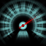Speedometer in motion blur Royalty Free Stock Image