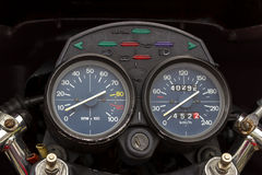 Speedometer of a motorbike Royalty Free Stock Photos
