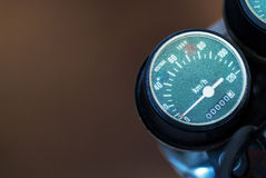 Speedometer motorcycle - old retro classic Royalty Free Stock Photos