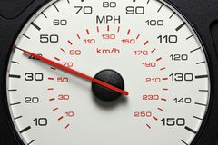 Speedometer at 40 MPH royalty free stock image