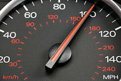 Speedometer at 100 MPH Stock Image