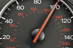 Speedometer at 100 MPH Stock Images
