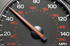 Speedometer at 50 MPH Royalty Free Stock Photo