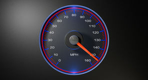 Speedometer MPH Fast Stock Photo