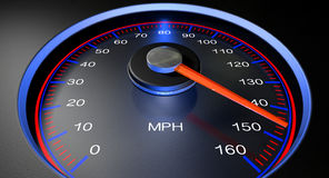 Speedometer MPH Fast Royalty Free Stock Photo