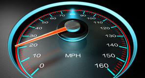 Speedometer MPH Slow Royalty Free Stock Images