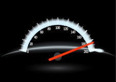 Speedometer & night Stock Image