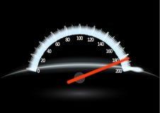 Speedometer & night. Speedometer on black background. Illustration Stock Image