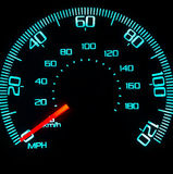 Speedometer at Night royalty free stock photo