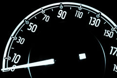 Speedometer at night inside a car Royalty Free Stock Photos