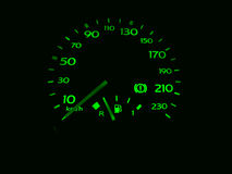 Speedometer (odometer) Royalty Free Stock Photo