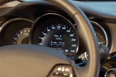Speedometer Of A Modern Car Royalty Free Stock Photo