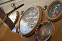 Speedometer of Old car Royalty Free Stock Photos