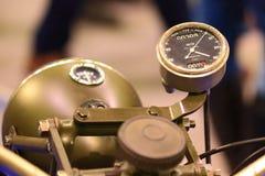 Speedometer of old motorcycle closeup Stock Photo
