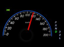 Speedometer over black Stock Photography