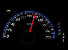 Speedometer over black Stock Photography